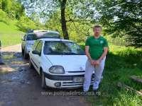 FOTO: Sighet - Autoturism cu țigări depistat în trafic de polițiștii de frontieră și jandarmii maramureșeni