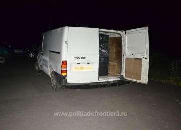 FOTO: Sighet și Ferești - Țigări de proveniență ucraineană confiscate de polițiștii de frontieră