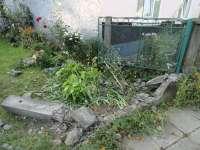 FOTO - TISA: A evitat un pieton și s-a oprit într-un gard