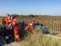 FOTO: Tragedie lângă Carei - Două persoane decedate într-un accident auto