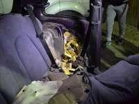 FOTO - VALEA VIȘEULUI: 1.500 de pachete de țigări confiscate de către Polițiștii de frontieră