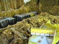 FOTO & VIDEO - 4.500 pachete cu țigări de contrabandă, descoperite într-un saivan pentru animale