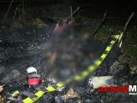 FOTO & VIDEO - Doi maramureșeni, unchi și nepot, au murit într-o baracă mistuită de flăcări