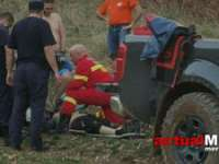 FOTO & VIDEO - Efort maxim pentru salvarea unui biciclist rănit într-o zonă abruptă din Maramureș