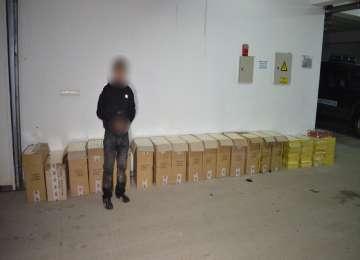 FOTO + VIDEO: SARASĂU - Peste 9.000 pachete ţigări de contrabandă au fost confiscate de către Polițiștii de frontieră
