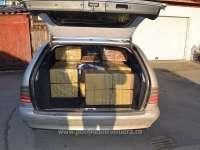 FOTO & VIDEO: SIGHET - 6.000 de pachete de țigări de contrabandă, transportate cu un autoturism neînmatriculat