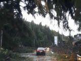 FOTO & VIDEO - Trafic îngreunat și parțial blocat între Cavnic și Budești în urma furtunii de astăzi. Situație similară și în pasul Gutâi