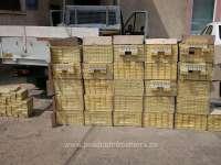 FOTO & VIDEO - Trei cetățeni români cercetați pentru contrabandă și 24.000 de pachete cu țigări confiscate la frontiera de nord