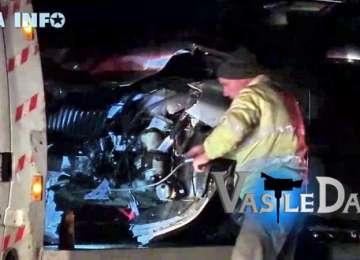 FOTO & VIDEO - Un șofer din Vișeu s-a izbit cu mașina de parapeții de metal în apropiere de Gherla