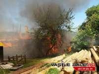 FOTO & VIDEO: VIȘEU DE SUS - Gospodăria unei bătrâne a ars ca o torță