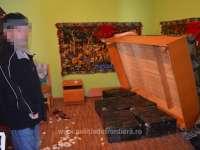 FOTO: Vişeu de Sus - 5.500 pachete ţigări confiscate în urma a două percheziţii
