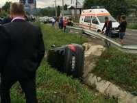 FOTO: Vişeu de Sus - Două MAȘINI făcute PRAF în urma unui grav accident auto