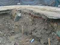 FOTO - Zid misterios descoperit în centrul Sighetului