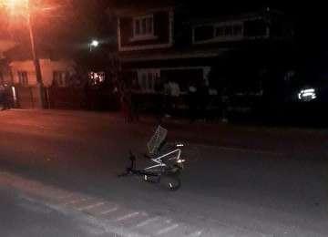 FOTO&VIDEO: ACCIDENT MORTAL ÎN BORȘA - Un biciclist a murit după ce a fost izbit cu mașina de un vitezoman