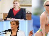 Gafă uriaşă - Preşedinta Croaţiei, în costum de baie. Cine apare de fapt în imagini
