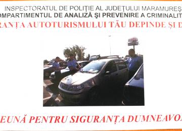 GRUP INFRACŢIONAL SPECIALIZAT în FURTURI DIN AUTOTURISME, destructurat de către polițiștii maramureșeni