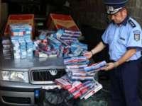 Ţigări de contrabandă confiscate de poliţişti la Sighetu Marmaţiei şi Baia Mare