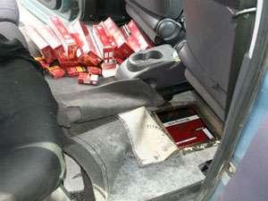 Ţigări de contrabandă confiscate de poliţiştii băimăreni