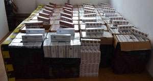 FOTO: Ţigări în valoare de aproximativ 200.000 de lei  confiscate la frontiera de nord