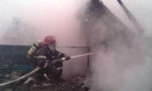 INCENDIU: Magazie de lemn, mistuită de flăcări în Leordina în acest sfârşit de săptămână