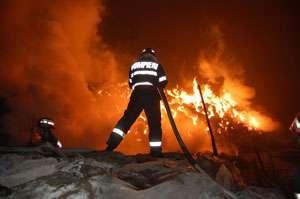 INCENDIU – O casă din Borșa, mistuită de flăcări