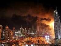 Incendiul din Dubai: Un român, martor al infernului, a filmat hotelul cuprins de flăcări în care se afla