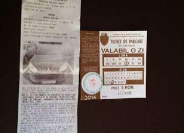 INCOMPETENȚĂ CRASĂ - Poliția locală amendează șoferii deși au tichet de parcare