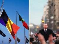 Înmormântarea Regelui Mihai. NATO a coborât în bernă drapelul româniei, în onoarea Majestăţii Sale