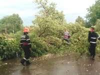ISU Maramureș - Zeci de intervenții pentru pompieri în urma furtunii de ieri din județ