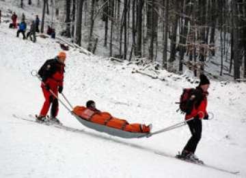 Jandarmii montani au acționat pentru salvarea mai multor turiști răniți pe pârtiile de schi