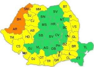 Judeţul Maramureş rămâne sub cod galben de caniculă până miercuri