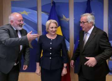 """Juncker, mesaj dur pentru Dăncilă: """"Reveniți la un discurs politic normal în România"""""""