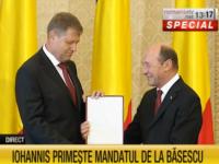 Klaus Iohannis a preluat mandatul de șef al statului de la Traian Băsescu