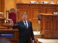 """Klaus Iohannis în Parlament: """"Retragerea OUG 13 și demiterea unui ministru, prea puțin. Alegeri anticipate, prea mult"""""""