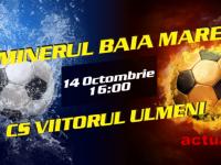 LIGA A IV-A la FOTBAL – Minerul Baia Mare întâlneşte sâmbătă CS Viitorul Ulmeni