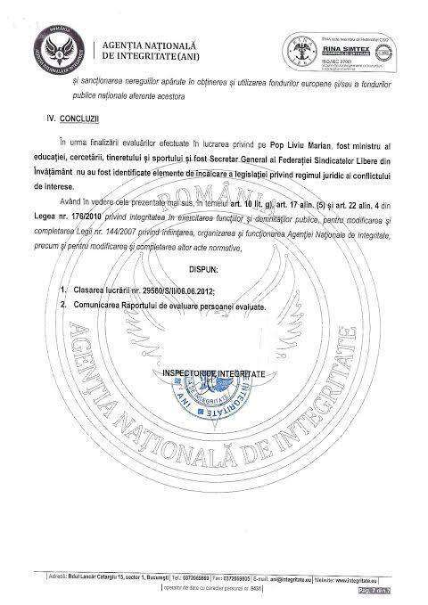Senatorul Liviu Marian Pop poate răsufla ușurat - ANI a clasat dosarul privind conflictul de interese al senatorului