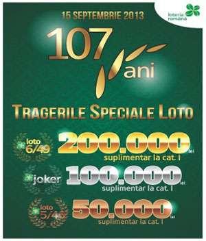 Loteria Română aniversează 107 ani de activitate. Şanse duble de câştig la Loto, duminică