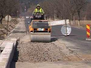 Lucrările pe drumul Baia Sprie-Sighetu Marmaţiei, în plină desfăşurare