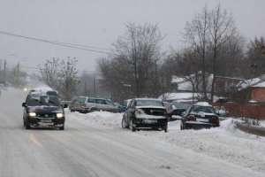MAI: Rugăm conducătorii auto începători să evite, pe cât posibil, conducerea autovehiculului în condiții de drum alunecos
