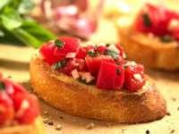 Mâncare bună de post - Bruschete cu roșii