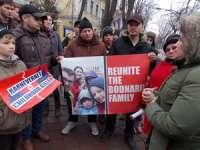 MARAMUREȘ - Mitingul de susţinere a familiilor Bodnariu şi Nan în atenţia jandarmilor