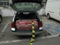 Maramureșean prins de două ori în aceeași zi transportând țigări de contrabandă cu mașini diferite