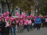 Marș pentru promovarea controalelor gratuite de mamografie, asigurat de jandarmi