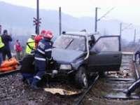 Maşina SPULBERATĂ de tren în Cluj era condusă de fiul de 15 ani al femeii decedate