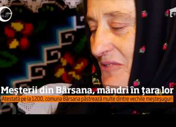 Meşterii din Bârsana pun valoarea, frumuseţea, credinţa şi cultura românească în covoare ţesute cu migală