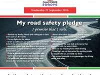 Miercuri, 21 septembrie, ziua europeană fără decedați în accidente rutiere