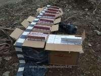 Nici măcar de Paște contrabandiștii nu au luat pauză - Peste 4.000 pachete ţigări confiscate de frontieriști