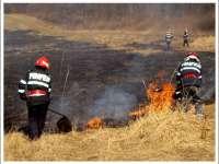 Nouă incendii în ultimele 24 de ore în Maramureş, dintre care șapte au fost de vegetaţie uscată