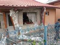 O butelie de gaz a explodat într-o locuință din Borșa. Proprietara a fost aruncată până în curte de suflul exploziei