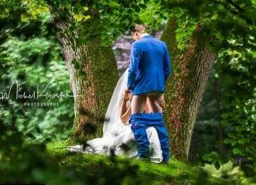 O fotografie de nuntă indecentă, făcută la sugestia soacrei, a devenit virală